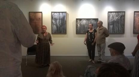 Opening - Human Nature - Lone-goat-gallery-2015 Vianney-Pinon with Sabine Pinon & Nitza Frantz-Cohen